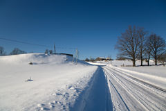 Snow Winter. Blue day white sky sun Royalty Free Stock Photos