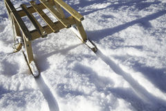 Snow, Winter And Sledges Royalty Free Stock Photo