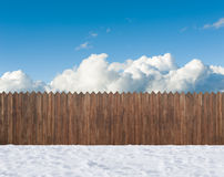 Snow winter backyard Stock Photography
