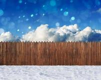 Snow winter backyard Stock Images