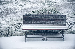 Snow of winter bench Royalty Free Stock Photography