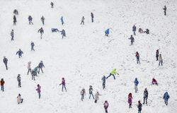 Snow Winter Children Playing Royalty Free Stock Image