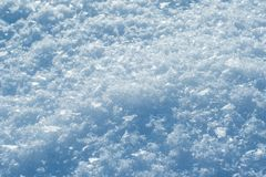 Snow in winter close-up. Macro image of snowflakes, winter background. Snow in winter close-up. Macro image of snowflakes, winter background royalty free stock image