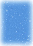 Snow Winter Frame. Frozen snow frame with snow on blue sky background Royalty Free Stock Images