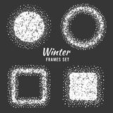 Snow winter frames vector set Stock Image