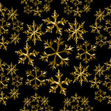 Snow winter gold low poly seamless pattern holiday Stock Images