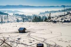 Snow winter landscape Stock Images