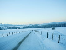 Snow Winter landscape countryside scene Royalty Free Stock Images