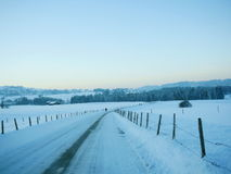 Snow Winter landscape countryside scene Royalty Free Stock Image