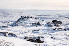 Snow winter landscape Royalty Free Stock Photos