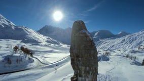 Snow winter landscape mountains nature hawk resort recreation stock video