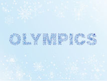 Snow winter olympics Royalty Free Stock Photos