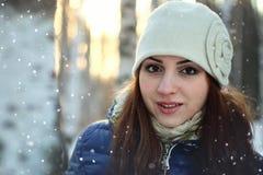 Snow winter portrait female Stock Photography