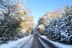 Snow winter road Stock Photos