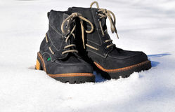 Snow winter shoes Royalty Free Stock Photos