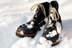 Snow winter shoes Royalty Free Stock Image