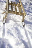 Snow, winter and Sledges Stock Photography
