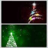 Snow Winter Tree Banners Stock Images