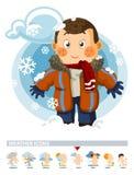 Snow on Winter. Weather Icon Stock Image