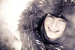 Snow Winter Woman Stock Image