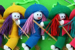 Snow witch doll Stock Photography