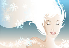 Snow Woman royalty free stock images