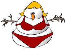 Snow Woman In A Bikini Stock Photos