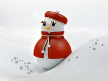 Snow woman illustration Stock Photo