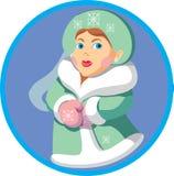 Snow_women. Snow women as Snegurochka vector royalty free illustration