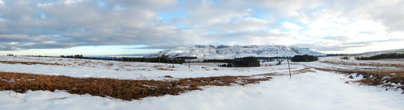 Snow wonderland. Snow covered mountains, Hogsback, South Africa Stock Photography