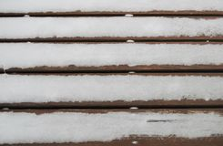 Snow on a wood Royalty Free Stock Photography