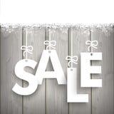 Snow Wood Laths Sale Stock Photo