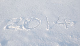 The snow of 2014 Stock Photos