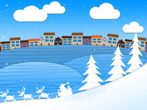 Snow Xmas Shows Christmas Greeting And Wintry. Snow Xmas Representing Merry Christmas And Holiday Royalty Free Stock Image