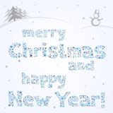 Snow xmas text Stock Image