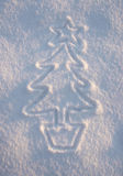 Snow Xmas Tree Stock Image