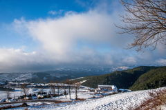 After the snow Yunnan Dongchuan Red Land Royalty Free Stock Photography