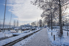 Snow in Zurich Royalty Free Stock Photography