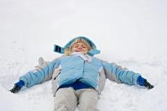 Snowangel tillverkare Arkivbild