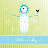 Snowbaby boy Stock Photography