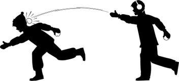 snowball дракой иллюстрация штока