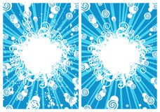 Snowball. (illustration,  background,  vector, design, abstract Stock Image