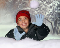Snowball Catch Royalty Free Stock Photography