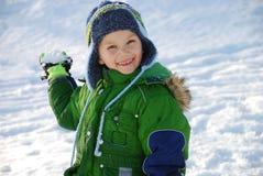 snowball chłopca Zdjęcia Royalty Free
