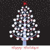 Snowball Christmas Holiday Tree Royalty Free Stock Photo
