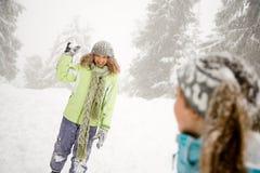 snowball dziewczyny Obrazy Stock