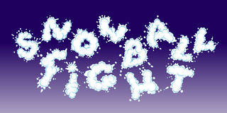 Snowball fight. Vector. Lettering Snowball Fight. EPS10. Layered Stock Photos