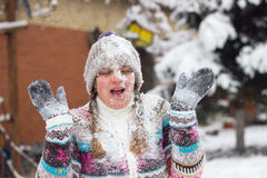 Snowball fighting Royalty Free Stock Photography