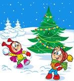 Snowball Game Stock Photo