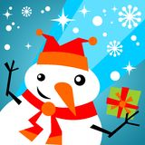 Snowball with gift Royalty Free Stock Photo